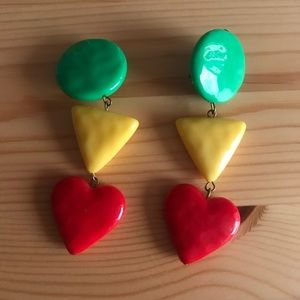 Jewelry - VINTAGE geometric shape 🌈 earrings